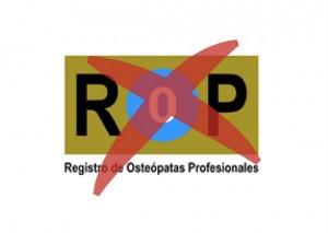REGISTRO DE OSTEOPATAS PROFESIONALES ILEGAL