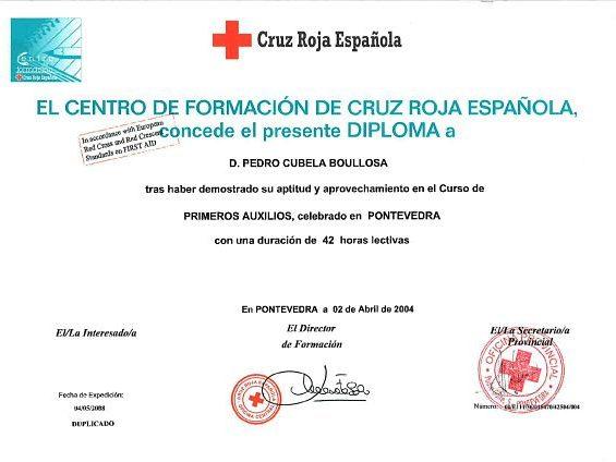 Primeros auxilios en Pontevedra