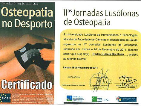 Jornadas lusofonas de osteopatía en el deporte