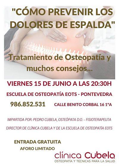 charla de osteopatía en pontevedra
